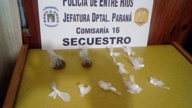 Detuvieron un joven con drogas