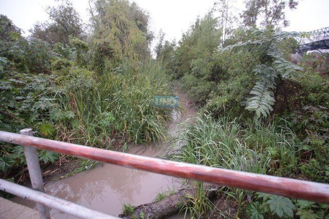La lluvia aumentó el caudal de los arroyos en Paranà. Foto UNO Juan Ignacio Pereira.