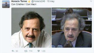 Alfonsín se tomó con humor la comparación que le hicieron en Twitter