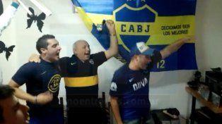 Desde el barrio Paraná XX alentando al Xeneize