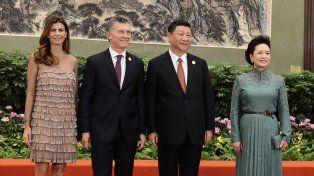 Foto oficial. Macri y Juliana Awada fueron recibidos por el presidente Xi Jinping y su esposa.