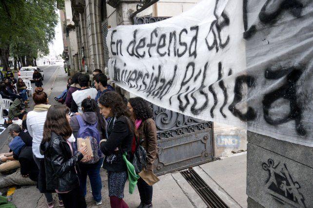 Una imagen de la Toma. Foto UNO Mateo Oviedo.