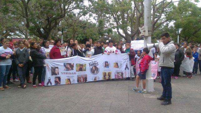 La movilización en Santa Elena reclamó justicia por la muerte de Gisela