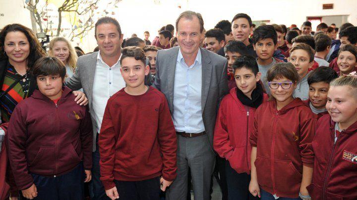 Bordet se mostró junto con el intendente de Seguí