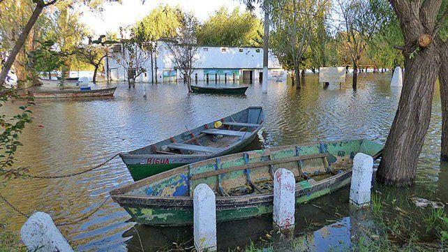 Balneario Itapé. Las lluvias en las cuencas superiores se desplazan hacia territorio entrerriano.