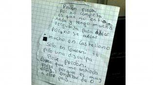 Carta de chico guaraní que pidió perdón por su bajo nivel académico, conmovió a todos