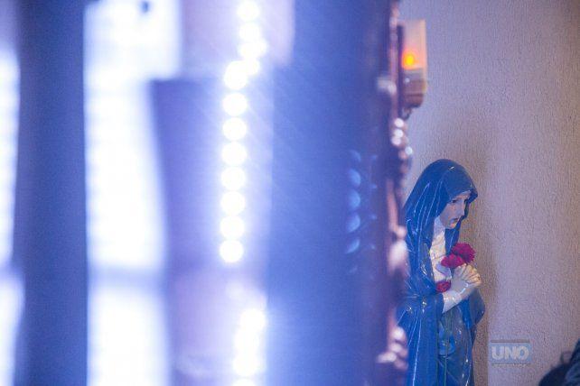 La estatua de la virgen en Santa Teresita. Foto UNOMateo Oviedo.