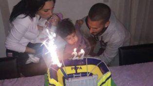 Benedetto festejó su cumpleaños con una torta muy particular