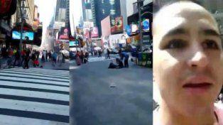 Me salvé de pedo, gritó un entrerriano en Time Square