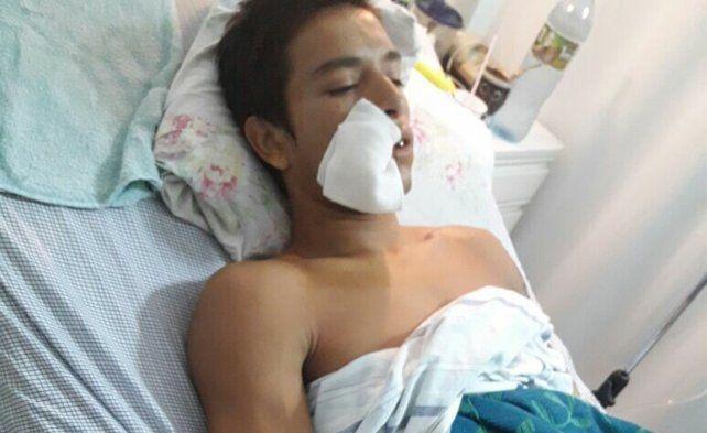 Martínez luego de la última operación.