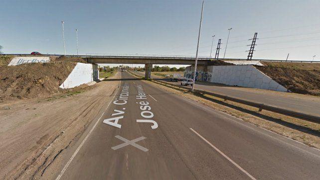 Restringen el tránsito en la Circunvalación por la construcción de un puente