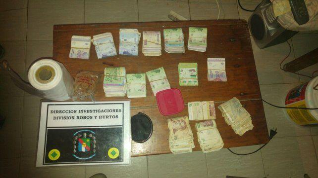 Dudoso. De una precaria vivienda se ubicó casi 70.000 pesos en efectivo.