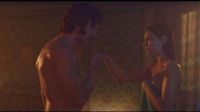 Pampita y Guilherme tienen imágenes muy hot en la película. Y muy buena onda afuera.