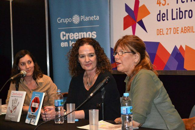 María Zysman en la presentación de su libro.