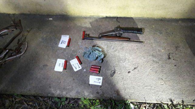 Fue detenido cuando realizaba disparos con arma de fuego