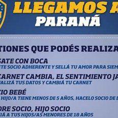 Atención hinchas: Boca llega a Paraná