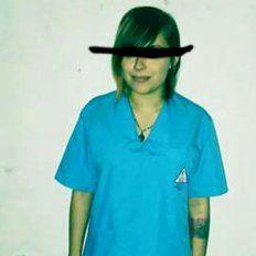 Experta. La muchacha de 24 años de Nogoyá, estudia Evisceración.