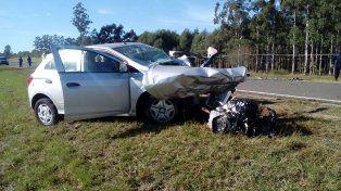Murió el hombre que protagonizó un choque entre un auto y un camión en la ruta nacional 15