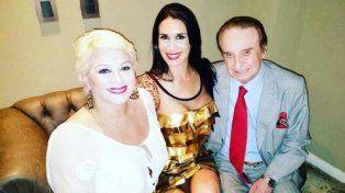 Carmen junto a Florencia y su ex marido.