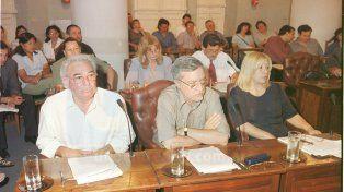 Mathieu en su etapa de concejal de la ciudad de Paraná