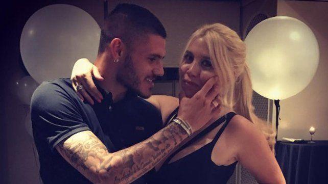La foto casual de Mauro Icardi y Wanda Nara