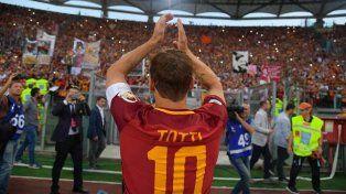 Totti se despidió con la Roma en Champions League