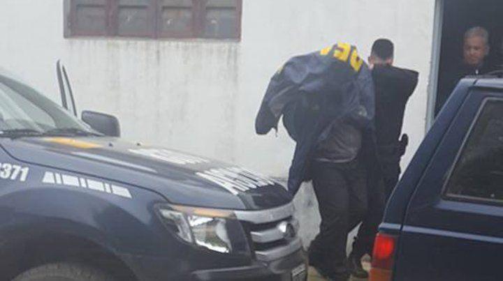 Uno de los detenidos hoy en Paraná.