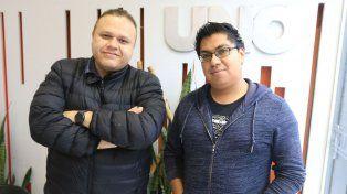 Juan González y Osvaldo Arias del Grupo Emmanuel.
