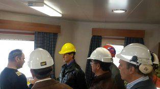 El Gobernador visitó Puerto Diamante en plena operatividad