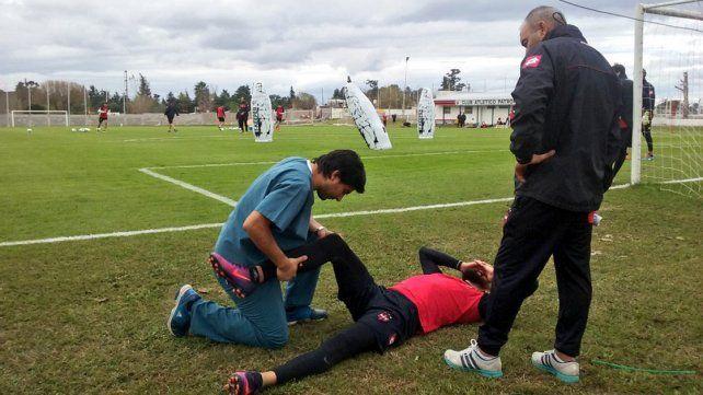 Nicolás Bertocchi se lesionó en el entrenamiento y está en duda para la Copa Argentina