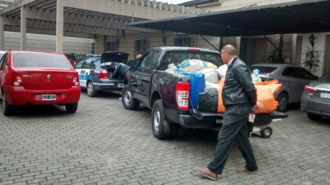 Pesaje oficial. La droga fue llevada hoy a la mañana al juzgado federal.Foto: UNO/Javier Aragón