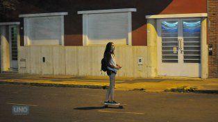 Cande en calle Laprida. Foto UNO Juan Manuel Hernández.