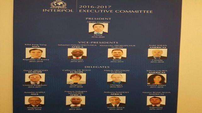 Comité Ejecutivo. El entrerriano forma parte de la mesa chica de Interpol.
