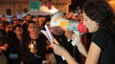 Nadia Burgos Michel el día de la marcha por Micaela. Foto UNO Juan Ignacio Pereira.