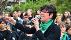 Concreta. Lina Londero pidió mayor compromiso en la diaria con les que sufren.