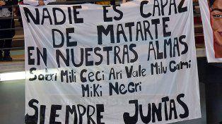 Símbolo. El femicidio de Micaela García reivindicó con mayor fuerza la proclama Ni Una Menos.