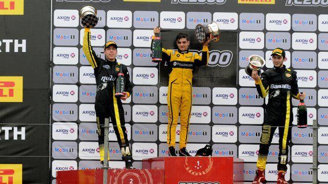 El podio del TC 2000 que cerró el espectáculo en el CVE.