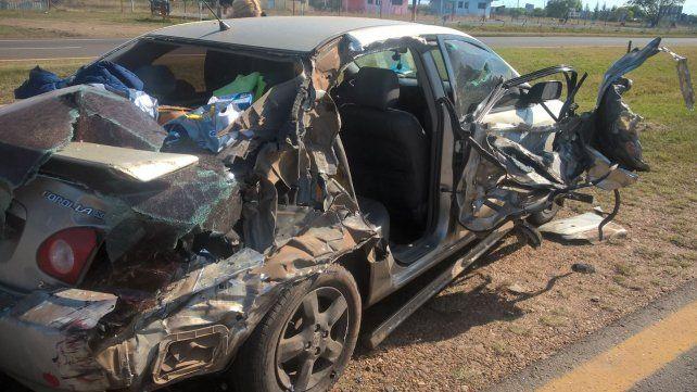 Violento accidente en la Autovía Artigas