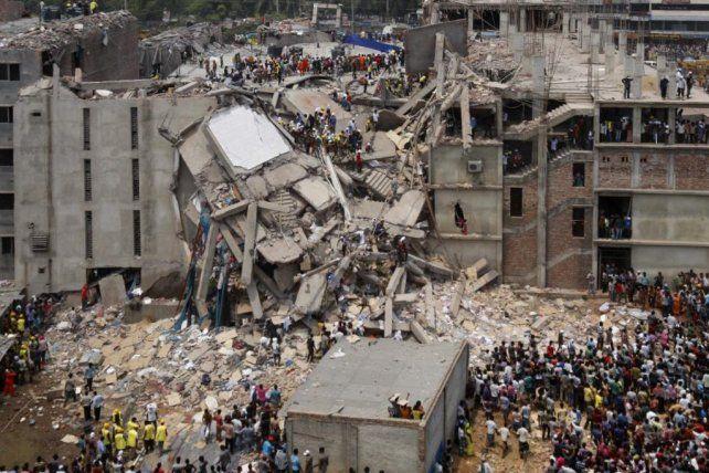 La fábrica Rana Plaza en Bangladesh.