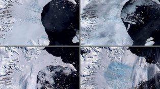 Alarma mundial: por un iceberg que está por desprenderse de la Antártida