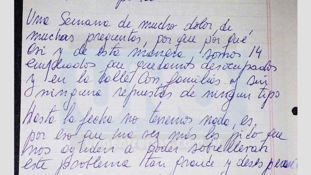 A una semana del cierre circula una conmovedora carta de los despedidos del hotel Alvear