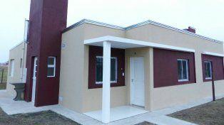 El modelo de casa que está entregando el IAPV en la provincia.
