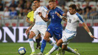 La Celeste fue goleada por Italia