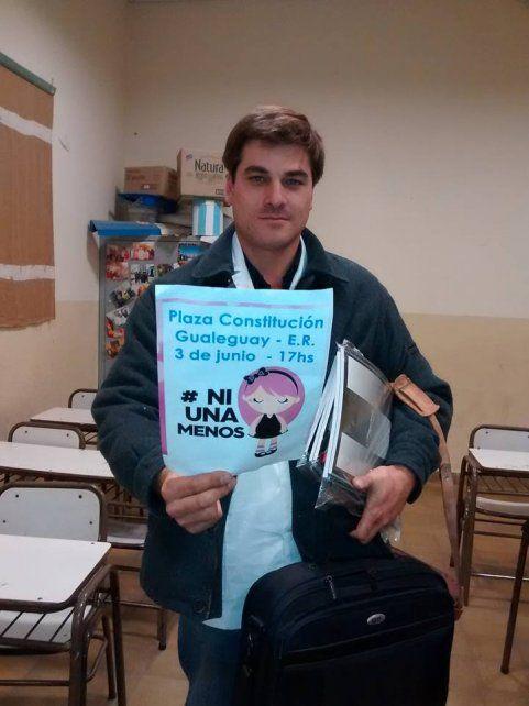La historia de Nicolás: El maestro de Puerto Ruiz que dará clases en una comisaría