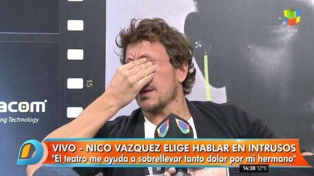 Nicolás Vázquez rompió el silencio y se quebró al hablar de la muerte de su hermano