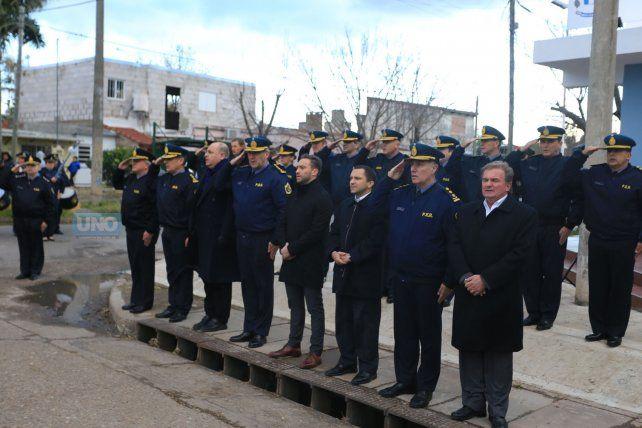 Los jefes de la policía llegaron hasta Paraná XVI. Foto UNO Diego Arias.