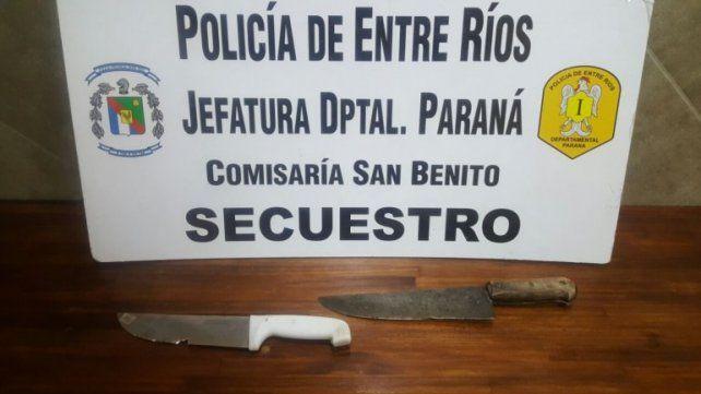 Noche de terror para una mujer de San Benito: El ex fue a su casa armado con dos cuchillas
