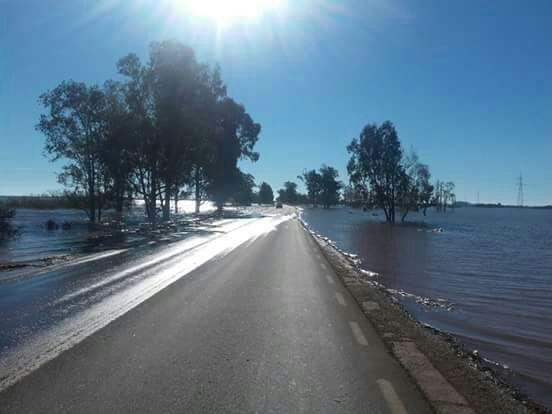 Ruta 14. El sur de Corrientes está muy complicado.