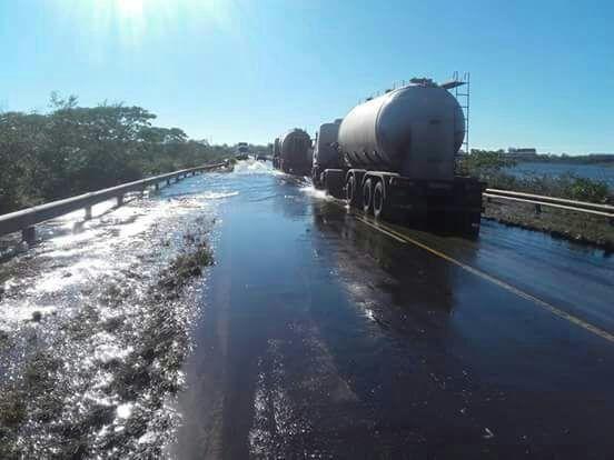 Ruta 14. Corrientes podría quedar sin tránsito en la costa del Uruguay.