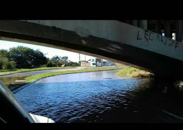 Desborde. El puente del lado de Uruguaiana